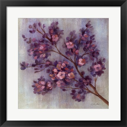 Framed Twilight Cherry Blossoms II Print