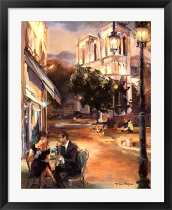Framed Twilight Time in Paris Print