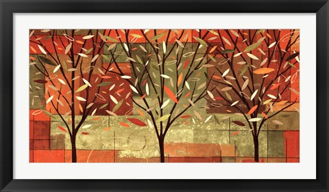 Framed Watercolor Forest II Print