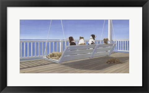 Framed Tails on a Porch Swing Print