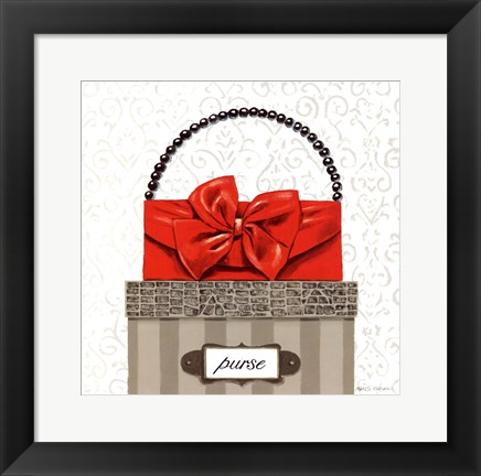 Framed Tres Chic Square II Print