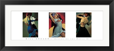 Framed Allure of the Dance II Print