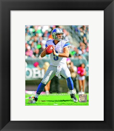 Framed Matthew Stafford 2012 football Print