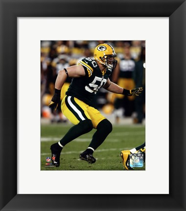 Framed A.J. Hawk 2012 Running Action Print