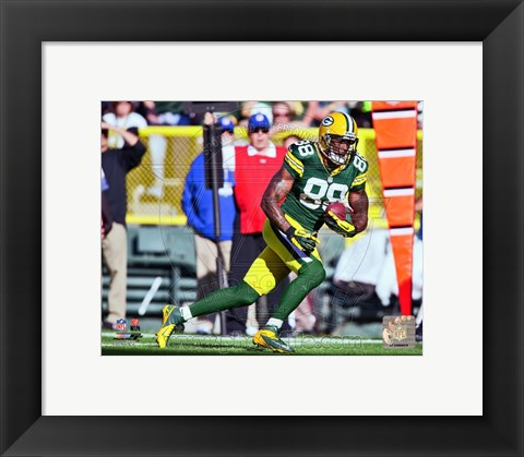 Framed Jermichael Finley 2012 Action Print