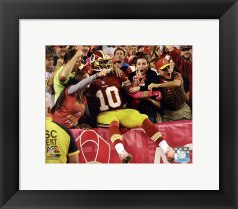 Framed Robert Griffin III  2012 Action Print