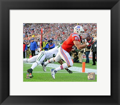 Framed Rob Gronkowski 2012 catch Print