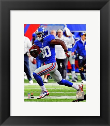 Framed Victor Cruz 2012 running Print