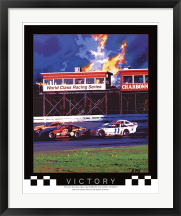 Framed Victory-Auto Racing Print