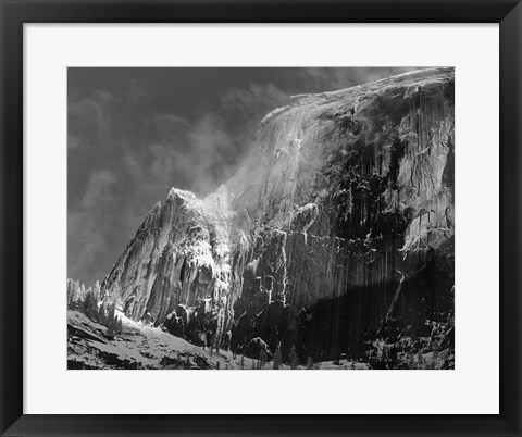 Framed Half Dome, Blowing Snow, 1955 Print