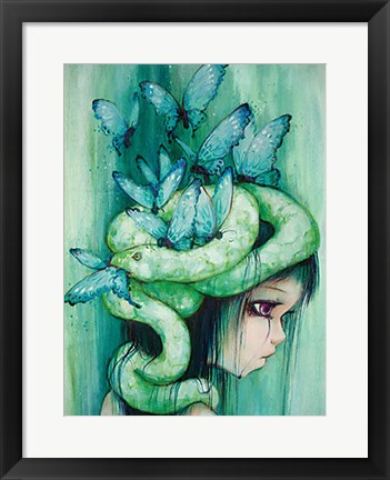 Framed Purple Tear Girl Print