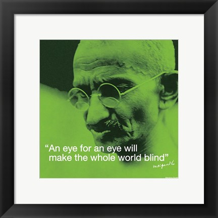 Framed Mahatma Gandhi- Blind World Print