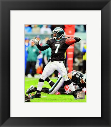 Framed Michael Vick 2012 Action Print