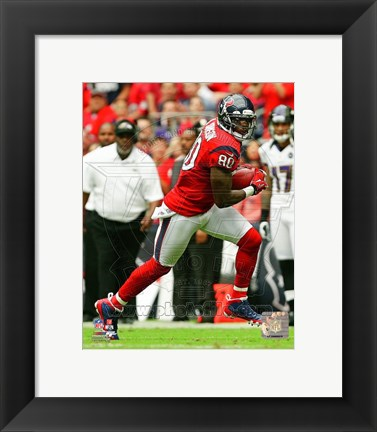 Framed Andre Johnson 2012 red Print