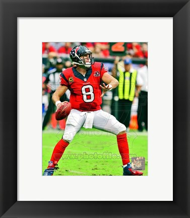 Framed Matt Schaub 2012 Action Print