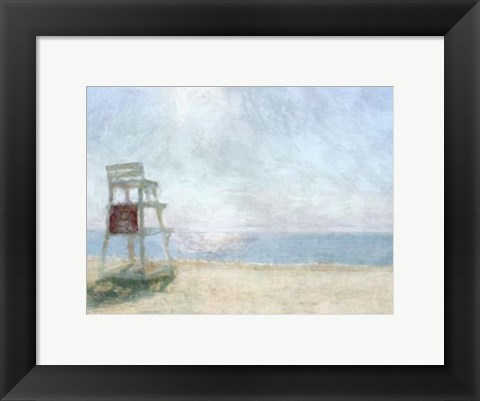 Framed Beach Lookout I Print