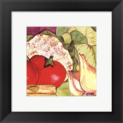 Framed Vegetable Melange IV Print