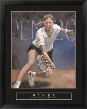 Framed Power - Tennis Player Print