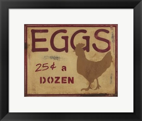 Framed Eggs Print