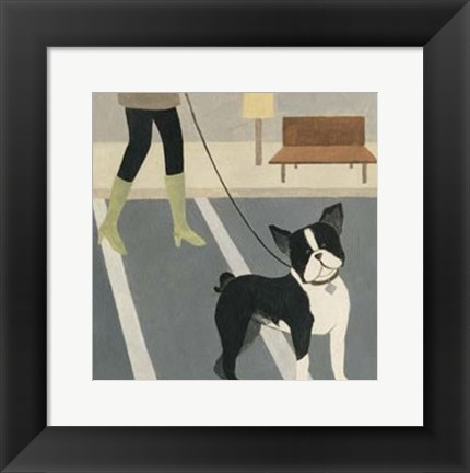Framed City Dogs III Print