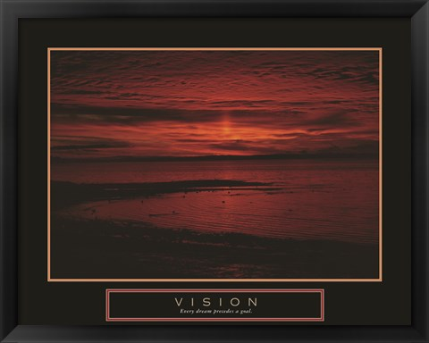 Framed Vision - Crimson Morning Print