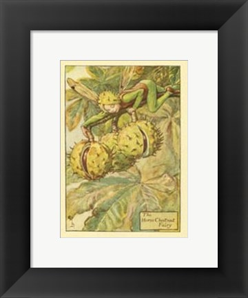 Framed Horse Chestnut Fairy Print