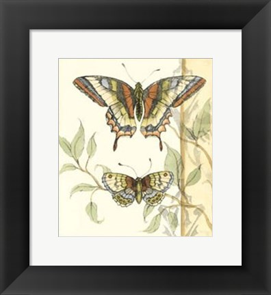 Framed Small Tandem Butterflies II Print