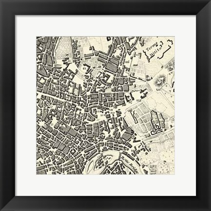 Framed City of Rome Grid V Print