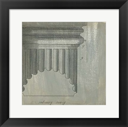 Framed Decorative Elegance VI Print