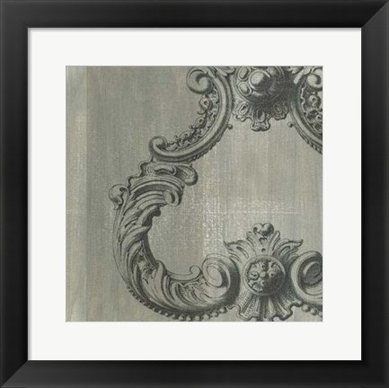 Framed Decorative Elegance VII Print