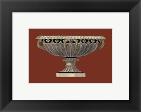 Framed Small Antique Vase II Print