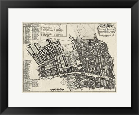 Framed Quays of London I Print
