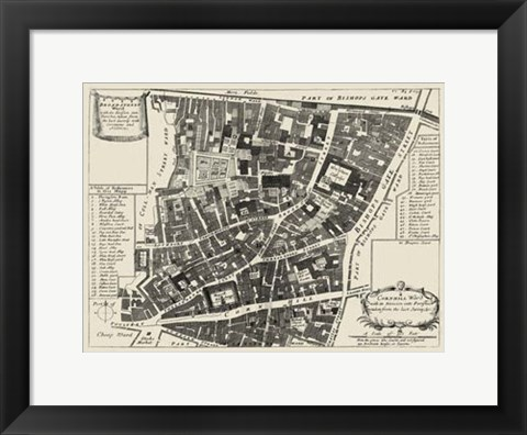 Framed Quays of London II Print
