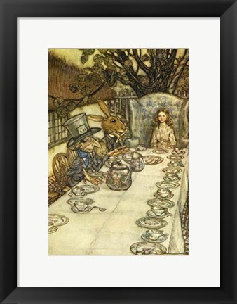 Framed Mad Tea Party Print