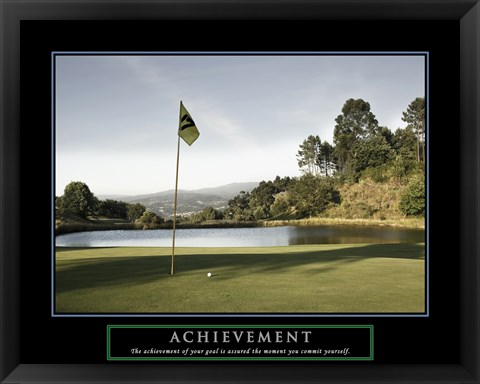 Framed Achievement-Golf Commit Yourself Print