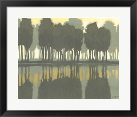 Framed Lake at Dawn I Print