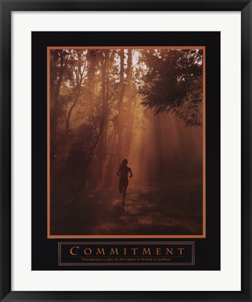 Framed Commitment-Runner Print