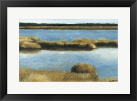 Framed Wet Lands II Print