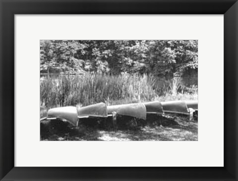 Framed Lake Living IV Print