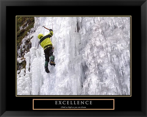 Framed Excellence-Snow Climber Print