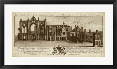Framed View of Newstead Abbey Print