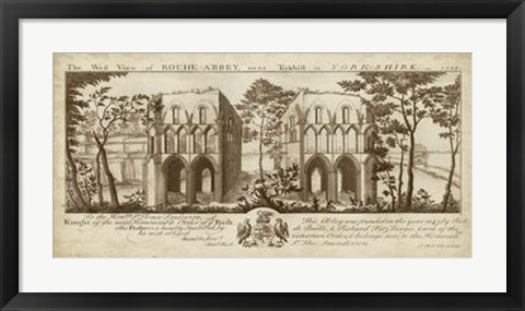 Framed View of Roche-Abbey Print