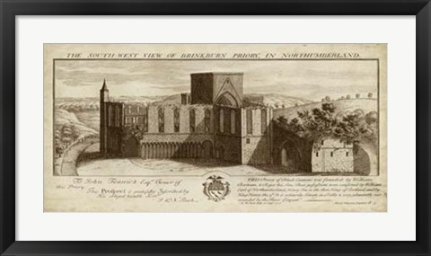 Framed View of Brinkburn Priory Print