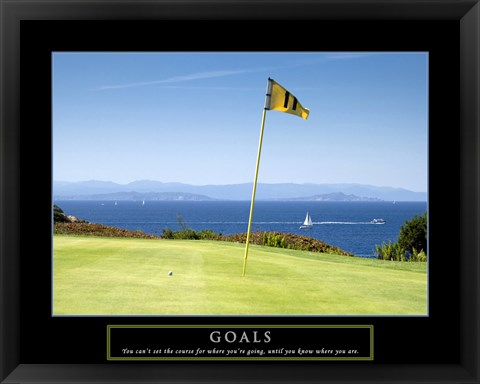 Framed Goals-Golf Print