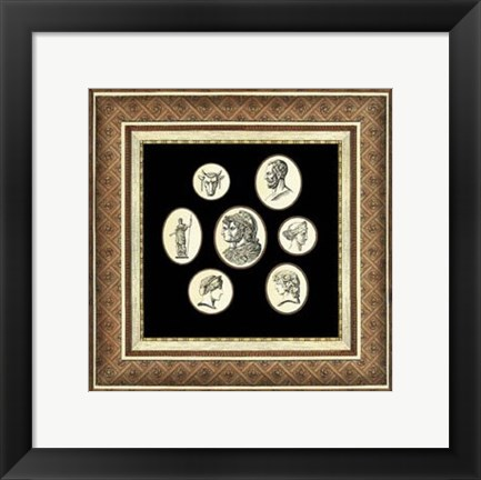 Framed Classic Cameos II Print