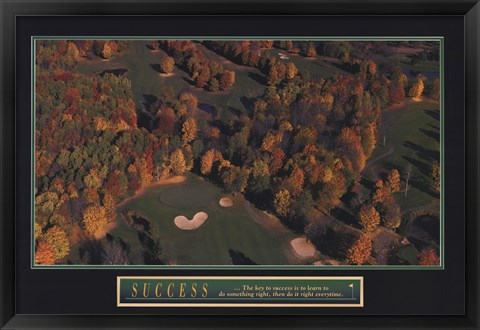 Framed Success-Golf Print