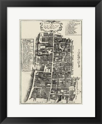 Framed Quays of London IV Print