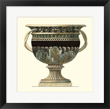 Framed Crackled Large Giardini Urn II Print