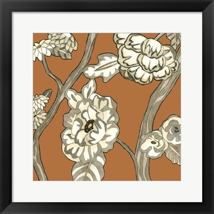 Framed Butterscotch Chintz III Print