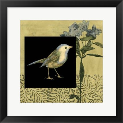 Framed Bird Fantasy I Print